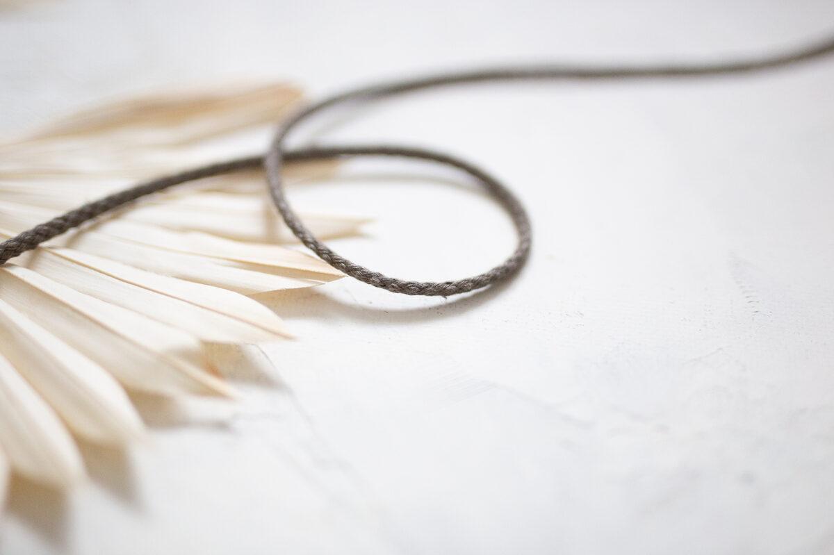 Pīta lina aukla 5mm, 10-50m, brūni pelēks/olive brown (#6)