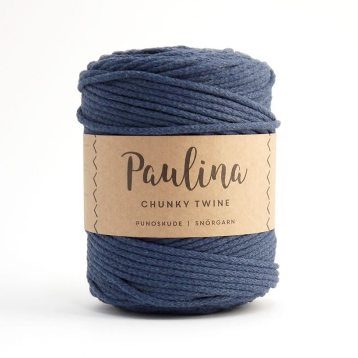 Paulina pīta aukla 5mm, 10-50m, džinsa zila/jeans blue