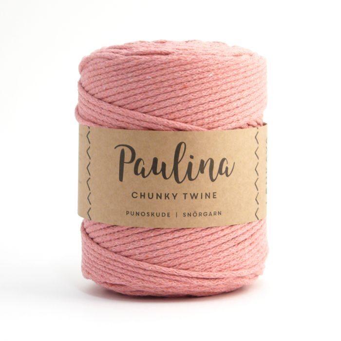 Paulina pīta aukla 5mm, 10-50m, gaiši vecrozā/light old pink
