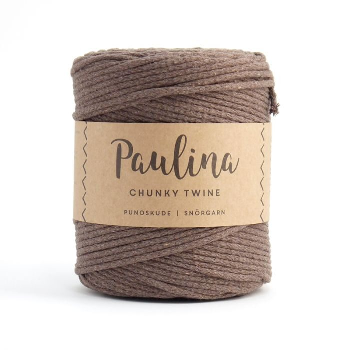 Paulina pīta aukla 5mm, 10-50m, kakao brūns/cocoa