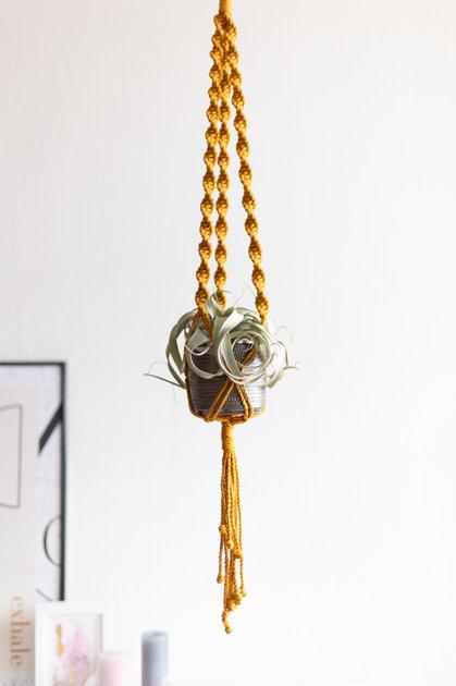 Puķu poda turētāja mezglošanas DIY komplekts no vītas auklas #1
