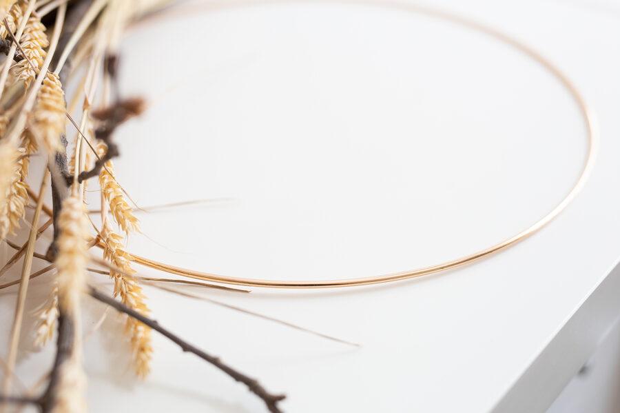 Metāla riņķis, zeltīts, 30 cm
