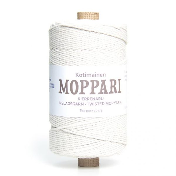 Moppari 3-pavedienu vīta aukla 3mm, 10-50m, dabīga/bēša
