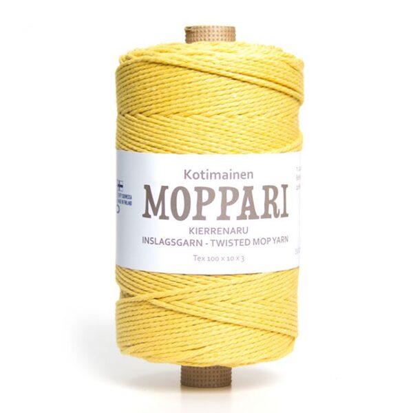 Moppari 3-pavedienu vīta aukla 3mm, 10-50m, dzeltena/mimosa