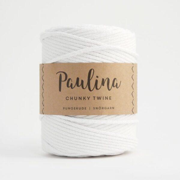 Paulina pīta aukla 5mm, 10-50m, balta/white