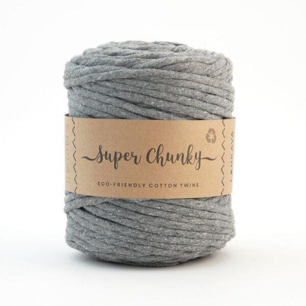 Super Chunky 1-pavediena 5mm aukla, 10-50m, pelēka/grey