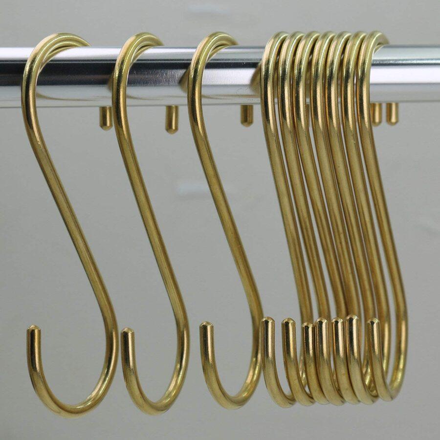 Metāla āķi mezglošanai, zeltīti